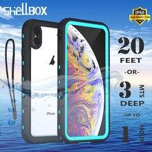 Ip68 à prova dip68 água caso do telefone para o iphone 12 11 pro max x xr xs max claro escudo de silicone para apple se 8 7 6s mais capa à prova de choque
