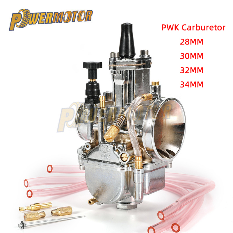 Universal28mm 30mm 32mm <font><b>34mm</b></font> 2T 4T <font><b>PWK</b></font> Motorcycle Carburetor Carburador For Mikuni Koso For ATVSuzukiYamahaHonda Power Jet image