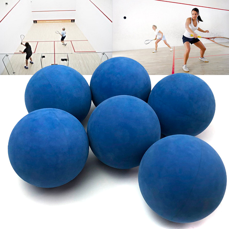 12 Pcs 5.5cm Racquetball Rubber Ball High Elasticity For Game Practice Training SEC88