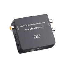 DA600 DAC 5.1CH HIFI Digital to Analog o Decoder Converter DTS AC3 PCM Optical Fiber Coaxial to RCA 3.5MM