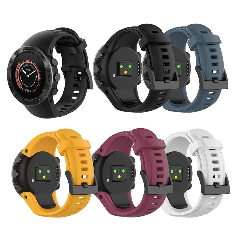 Soft Silicone Replacement WatchBand For Suunto 5 Band Strap Smart Watch Wristband Smart Devices Repair Replacement Accessories