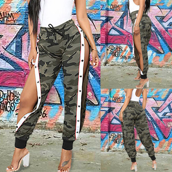 Fashion Women Pants Joggers Casual Loose Side split Long Pants Sweatpants Trousers Sweat Wear Plus Size High Waist Trousers#0114