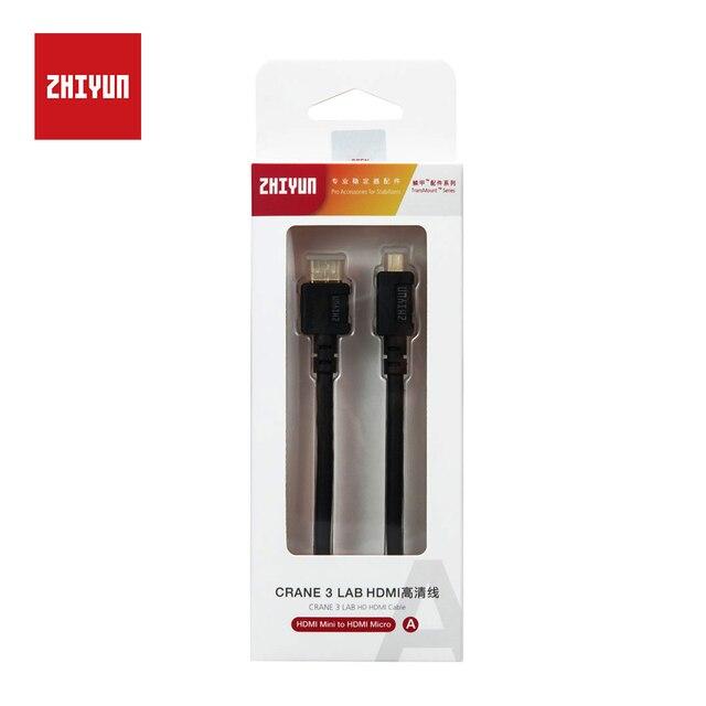 ZHIYUN Ufficiale HDMI a Micro/Mini/HDMI Cavo di Trasmissione di Immagini per la trasmissione di Immagini Trasmettitore Gru 3 LAB Palmare giunto cardanico