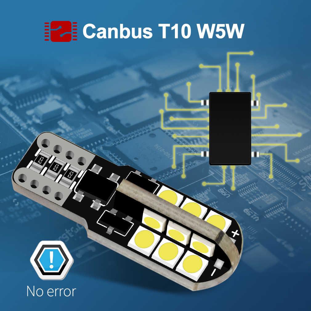6 個 T10 W5W led 電球 194 168 24SMD 3030 can バスエラーフリー 6000 18k ピュアホワイトウェッジドア音源電球ランプ 12 v