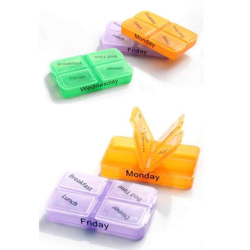 7 일 컨테이너 타블렛 주간 다이어트 알약 상자 의학 스토리지 플라스틱 케이스 일일 의약품 컨테이너 주최자 분류기 박스
