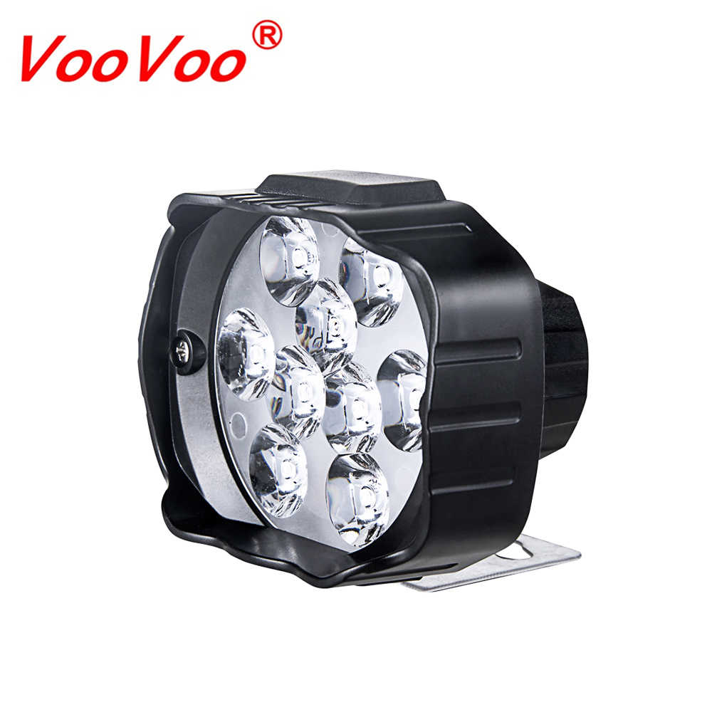 Universal 9 Leds Motorcycle Headlight SpotLight 9W 1000LM 6000K White Driving Spot Lights Motorbike Scooters Fog DRL Lamp Bulb