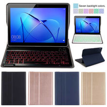 PU Leather Keyboard Cover For Huawei MediaPad T3 10 AGS-W09 AGS-L09 AGS-L03 9.6 Funda Case For Huawei Honor Play Pad 9.6 inch case bluetooth keyboard holster for huawei mediapad t3 10 protective cover leather tablet ags l09 ags l03 w09 t310 pu protector