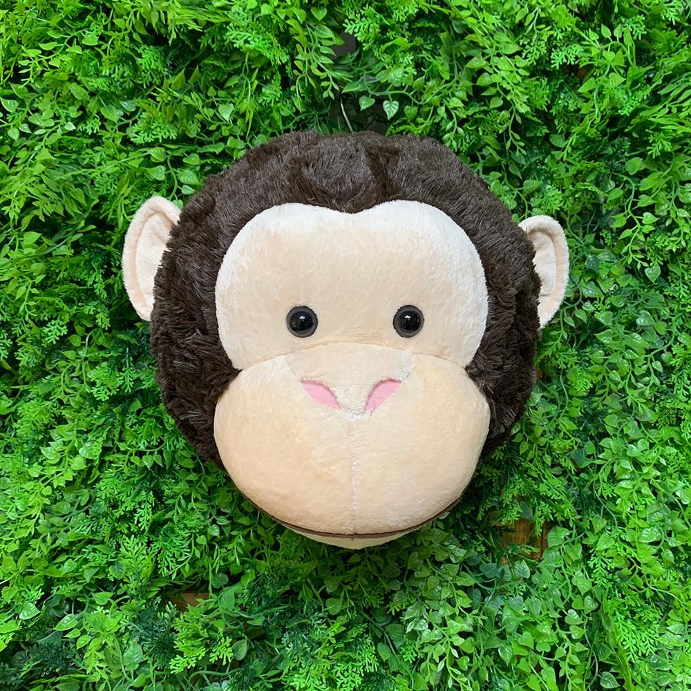 2021 настенная 3D голова обезьяны в стиле Ins, украшение на стену, мягкие животные, Реалистичная обезьяна reallife для детской комнаты, Лесной зоопар...