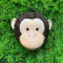 2021 parede 3d ins estilo macaco cabeça decoração de parede animais recheados reallife reallike macaco para crianças quarto floresta zoo urso gato