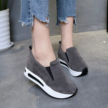 Women Vulcanized Shoes Casual Wedge Platform Elastic Band Spring Autumn Increasing Shoes Ladies Sneakers Female Drop Shop(China)