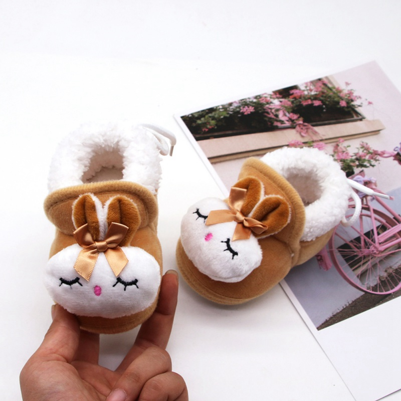 Hot Winter Cute Rabbit Animal Baby Boots Cotton-padded Shoes Baby Booties Wholesale Infant Toddler Shoes
