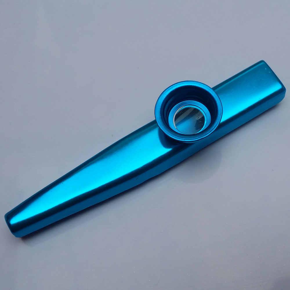 4 Pice Kazoo Logam Alat Ringan Portabel untuk Pemula Flute Alat Musik