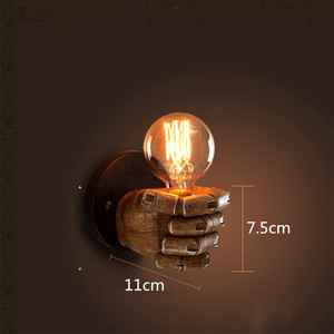 Image 5 - Светодиодный настенный светильник в стиле ретро креативный подвесной светильник из смолы для ресторана, кафе, спальни, гостиной, настенные светильники, украшение, E27 лампа 110 В 220 В