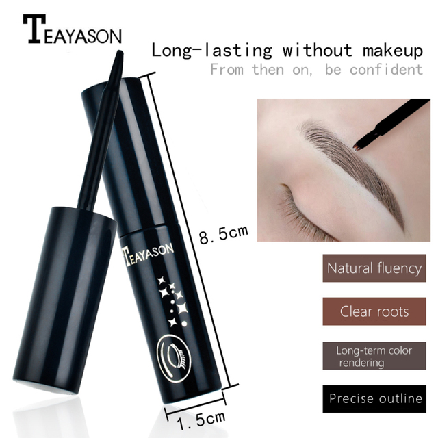 TEAYASON Eyebrow Dye 3 Color Eyebrow Pencil Long Lasting Waterproof Eyebrow Professional Makeup Eyebrow Gel Tattoo Cosmet Beauty 4