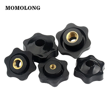 5pcs M4 M5 M6 M8 M10 Plum Hand Tighten Nuts Clamping Knob Manual Nuts Handle Thread Mechanical Black Thumb Nuts
