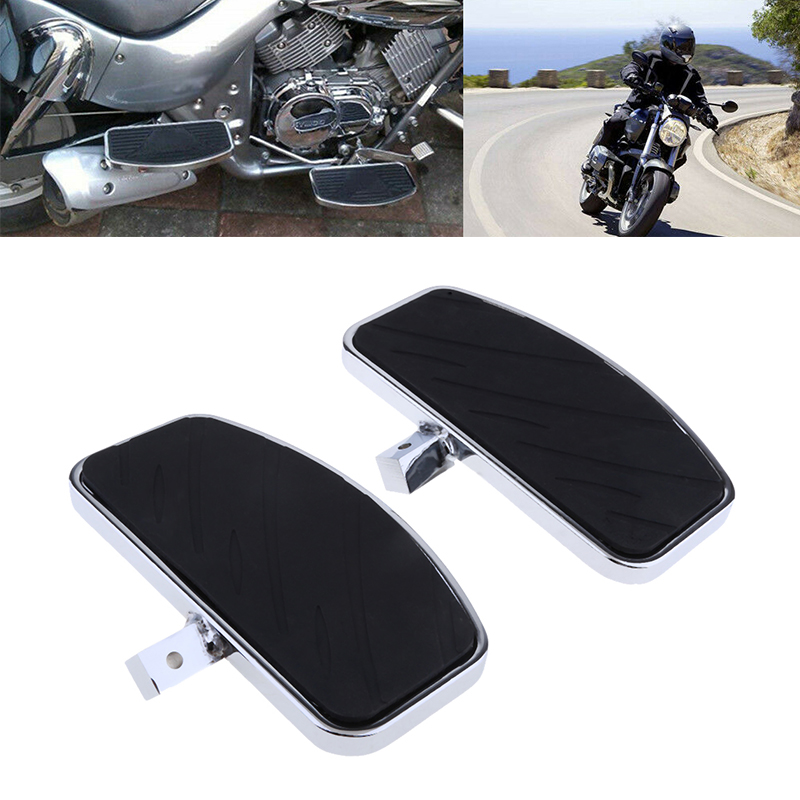 1 Pair Motorcycle Foot Pegs FootRest Footpegs Rests Pedals For  For Honda MAGNA VF250 VF750 /Yamaha V-STAR XVS 400/650 Etc