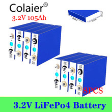 8 pièces Colaier 3.2V 105Ah 100Ah LiFePO4 Batteriehigh vidange pour bricolage 12V 24V Solaire Onduleur Électrique Véhicule c oach voiturette de golf