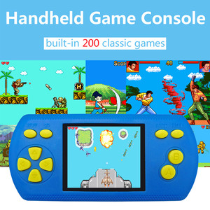 1X Portable Handheld 2.2 Inch Game Console Video Game Built-in 200 Classic Game FOR three AA batteries FOR children gamers 2019