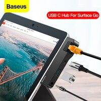 Baseus-HUB USB C a HDMI, compatible con USB 3,0, RJ45, tipo C, USB-C de red, adaptador multiusb para MacBook Pro Air
