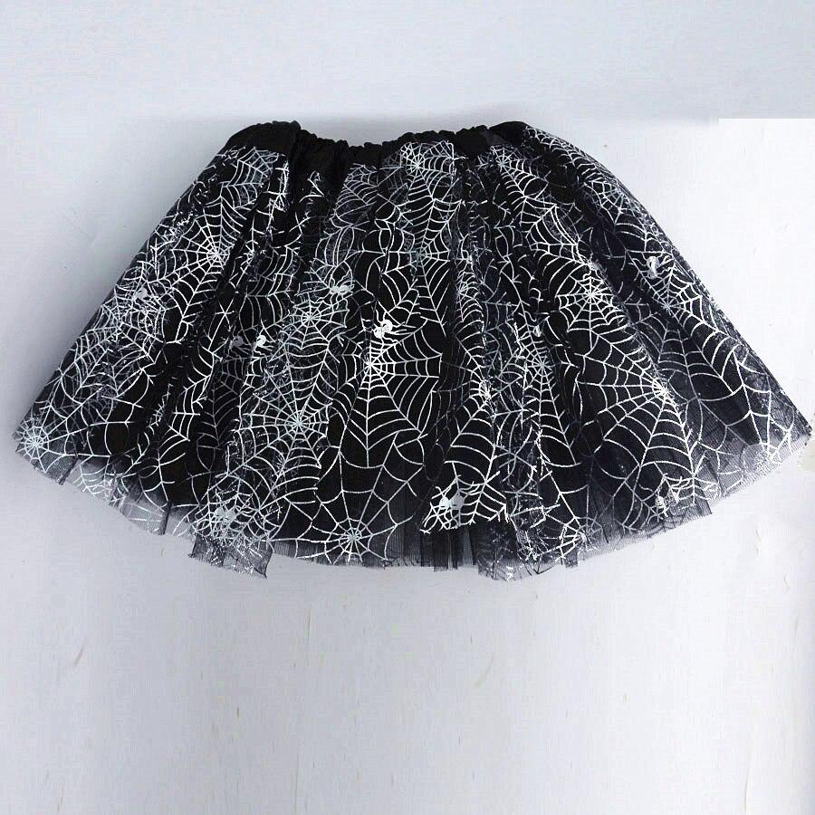 Kids Girls Spider Web Cobweb Costume Skirt Tutu Girl Cosplay Carnival Party Fancy Dress Halloween Costume For Kids Carnival