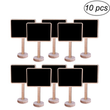 10PCS Mini Wooden Chalkboard with Stand Blackboard Sign Place Holder for Wedding Decoration