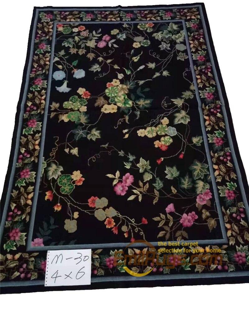Tapis carrés orientaux cousus à la main Aubusson nouveau prix couture française 100% laine tapis Floral laine tapis à tricoter