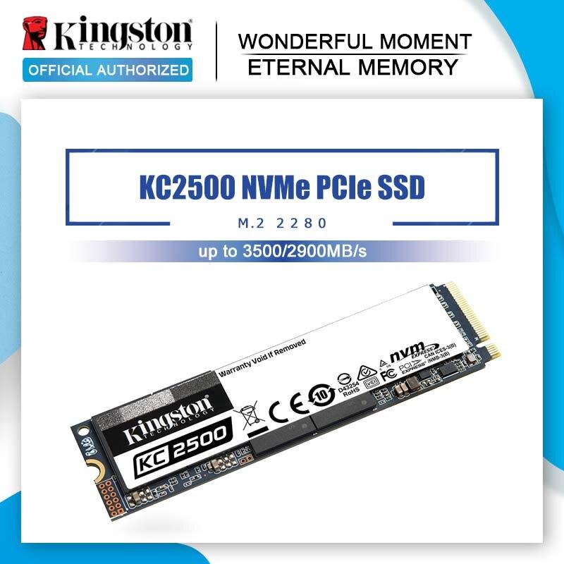 SSD-накопитель Kingston KC2500 M.2, 250 ГБ, 500 Гб, ТБ, Внутренний твердотельный накопитель M2 NVMe PCIe 3,0x4, SSD-накопитель для ноутбука и настольного компьютера