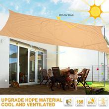 Rectangle Sunshade Waterproof UV Block Awning Shade Sail for Outdoor