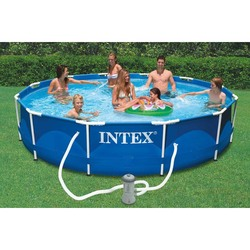 Intex Pool gerüst metall rahmen 366x76 cm 6503л pumpe mit filter 1250 L/H