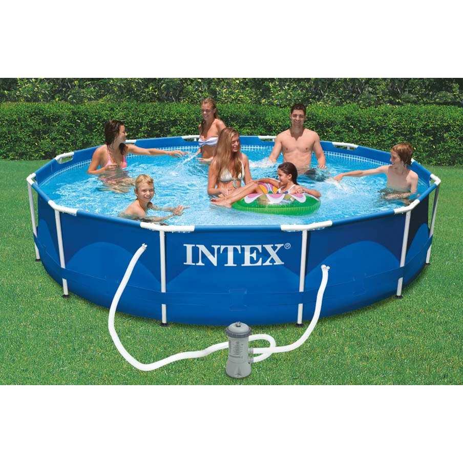 Intex Pool Scaffold Metal Frame 366x76 Cm 6503л Pump With Filter 1250 L/H