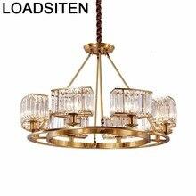 Dining Room Chambre Fille Loft Decor Vintage Light Home Crystal Suspension Luminaire Luminaria Deco Maison Hanging Lamp