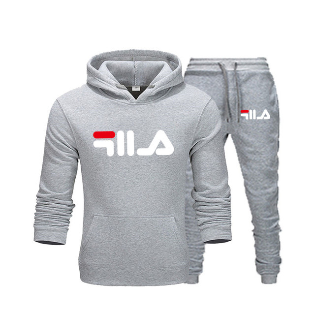 New Brand Clothing Men's Pullovers Sweater Cotton Men Tracksuits Hoodie Two Pieces + Pants Sports Shirts Fall Winter Track suit 1