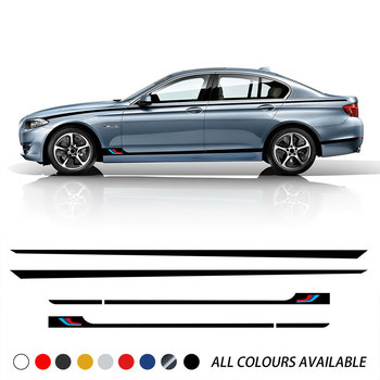 Car Styling Door Side Stripes Skirt Stickers Waist Line Body Kit Decal For BMW F20 F22 F45 F30 F32 F10 G30 G32 F36 M3 M4 F12 image