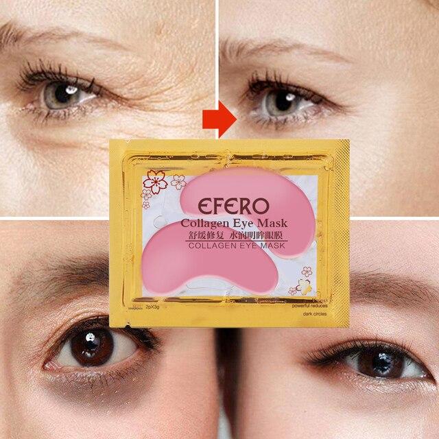 1Pair Collagen Crystal Eye Mask Serum Eye Patches Under Eyes Pad Dark Circle Puffiness Remove Anti-aging Collagen Eye Pads TSLM1 3