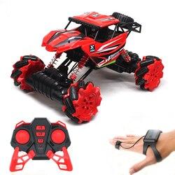 Rock Crawler 2.4Ghz Watch Control Car 4WD Remote Control RC Toy Drift Car Machines On the Radio Control 4x4 Drive Off Road