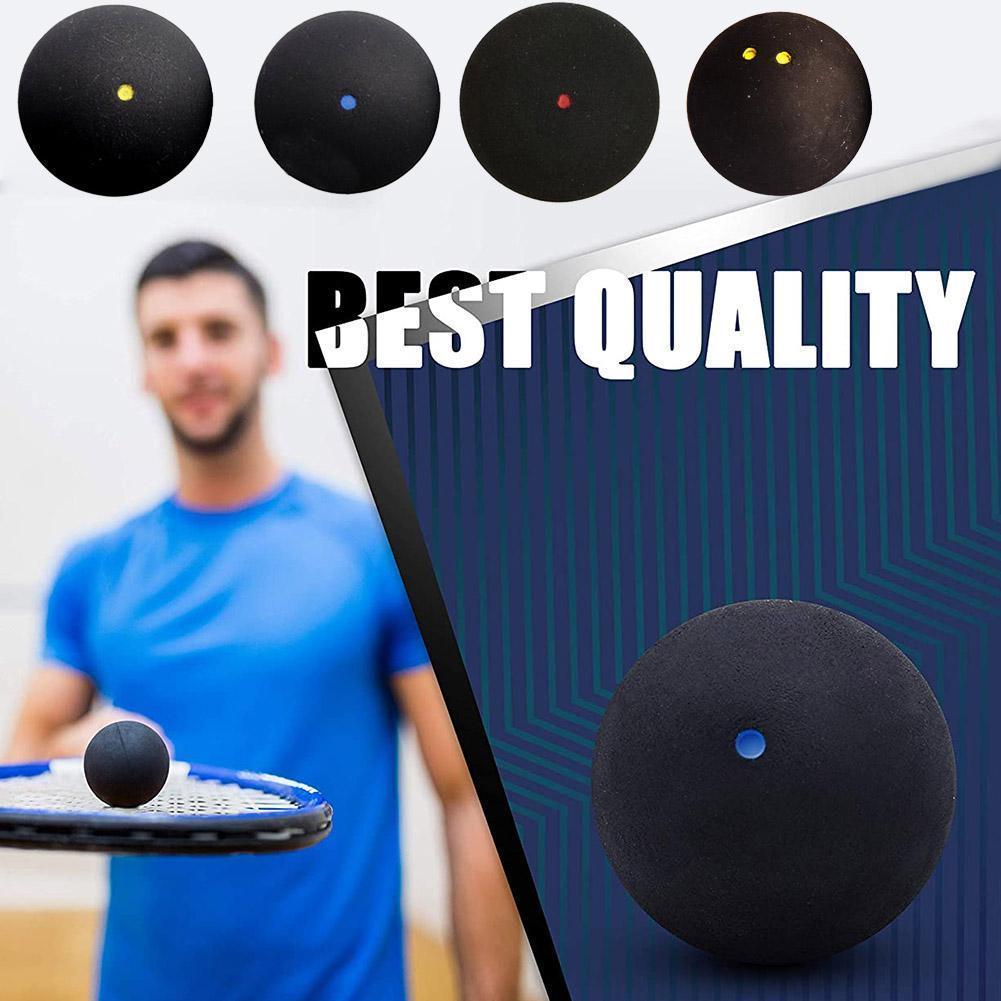 1pcs 37MM Professional Squash Ball Yellow Dot Low Speed Ball Rubber Tube Squash Dot Training Ball Blue Packing H1W9