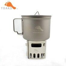 Toaks titanium fogão a gás fogão a gás de madeira queima pote suporte 34g 1.2oz FRM-02