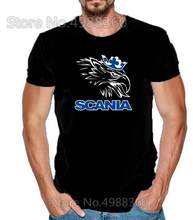 2019 Brand New Cars SCANIA Truck Bus LOGO Men's T-shirt Summer High Quality Fashion Short-Sleeved T shirt Car Auto Tshirt Tee(China)