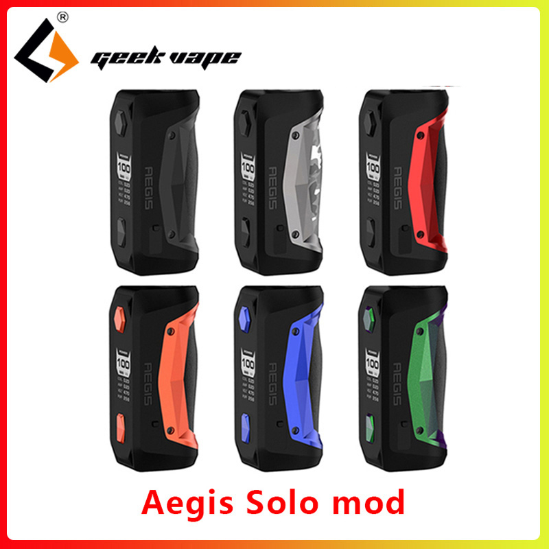 Electronic Cigarette GeekVape Aegis Solo Mod 100W Vaping Mod By 18650 Battery For Tengu RDA Fit 510 E Cigarette Vape Atomizer