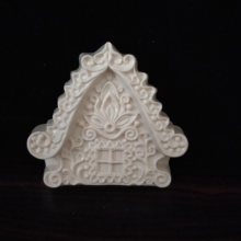 HC0160 PRZY Silicone Mold house Soap Molds 2020 New Year Christmas cottage Clay Resin Gypsum Chocolate Candle Candy
