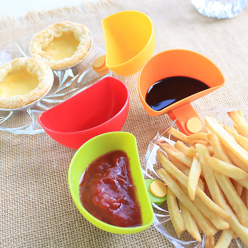 Kitchen Clip Tomato Paste Sauce Dishes Bowl Dip Small Clip Seasoning Dish Kitchen Bowl Portable Kitchen Picnic Tool Accessories image
