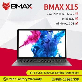 BMAX-ordenador portátil X15 de 15,6 pulgadas, 1920x1080, Intel Gemini Lake N4120, Intel UHD Graphics 600, 8GB LPDDR4 RAM, 128GB SSD ROM, Notebook X15