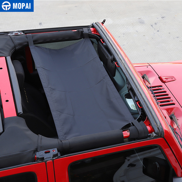 MOPAI Car Roof Cover  for Jeep Wrangler JK 2007+ Car Top Cover Accessories for Jeep Wrangler TJ JK 1987-2018 2