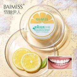 BAIMISS Zahn Bleaching Pulver 50g Frische Blenden Zähne Erhellen Oral Hygiene Reinigung Werkzeuge Plaque Zahnstein Flecken Entferner Sanfte