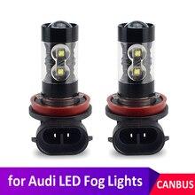 Комплект из 2 предметов, 50W Canbus H9 H8 H11 светодиодный туман светильник лампы автомобильные лампы дневного для Audi A3 8P 8V A4 B6 B8 B5 A6 C6 C5 80 B7 A5 100 A7 A8 Q5 Q7 TT...