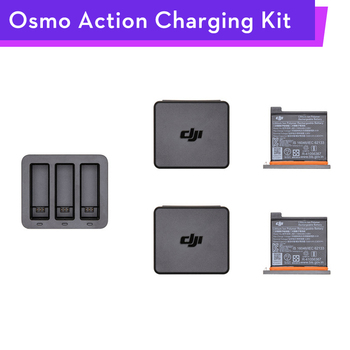 Original Osmo Action Charging Kit Battery Charger Hub Case Accessories Parts for DJI Osmo Action