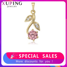 Xuping New Arrival Light Yellow Gold Color Plated Flower Shape Simple Pendant Jewelry Trendy Christmas Gift S225-35378(China)
