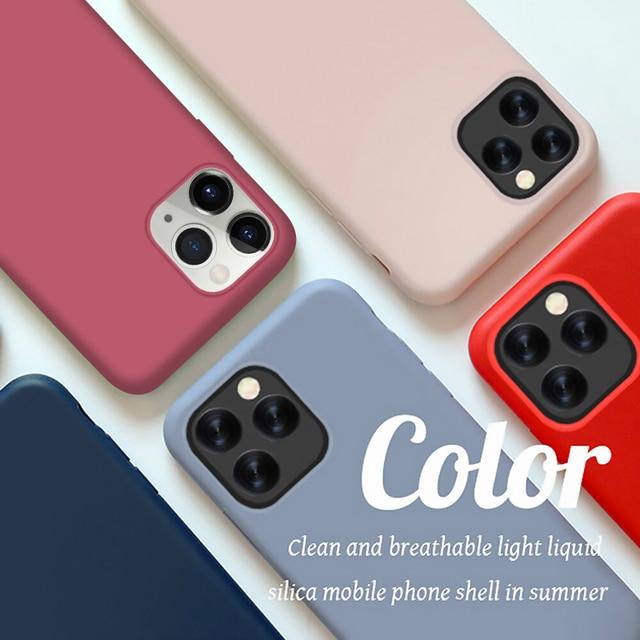 YISHANGOU Caso Per il iPhone di Apple 11 Pro Max SE 2 2020 6 S 7 8 Più di X XS MAX XR carino Colore Della Caramella Coppie Molle Silione Della Copertura Posteriore 3