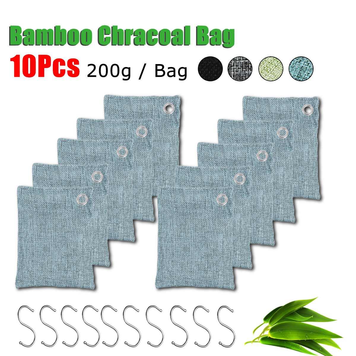 2/6/8/10/Bags Air Purifier Bag Car Home Shoes Bamboo Charcoal Dehumidifier Odor Remover Air Purifying Bag Natural Air Freshener