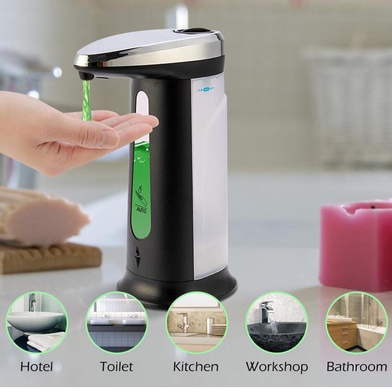 400 мл Автоматический Дозатор Мыла Бесконтактный Сенсор моющее средство для мытья посуды жидкость Алкоголь гель для Кухня санузел